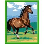 Peinture au numéro : Numéro d'Art Moyen Format Classique : Étalon chocolat au galop