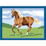Peinture au numéro : Numéro d'Art Petit format : Cheval au galop