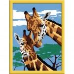 Peinture au numéro : Numéro d'Art Petit Format Classique : Belles girafes