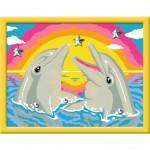 Peinture au numéro : Numéro d'Art Petit Format Classique : Deux amis dauphins