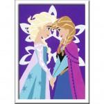 Peinture au numéro : Numéro d'Art Petit Format Classique : La Reine des Neiges (Frozen)