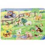Puzzle 10 pièces : La ferme des jolis animaux