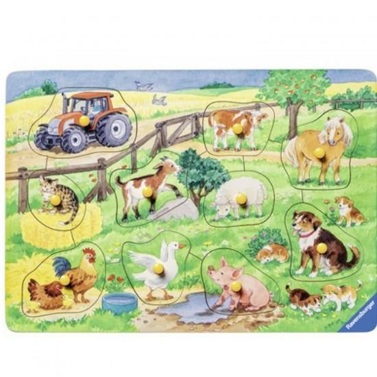 Puzzle 10 pièces : La ferme des jolis animaux - Ravensburger-03666
