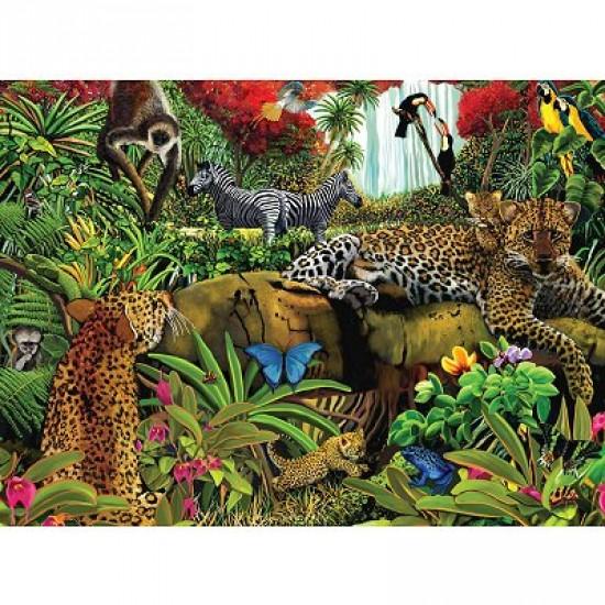 Puzzle 100 pièces - Les animaux de la jungle - Ravensburger-10781