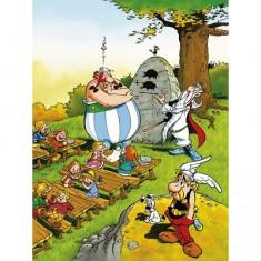 Puzzle 100 pièces - Astérix et Obélix : Obélix écolier
