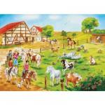 Puzzle 100 pièces - La ferme des poneys