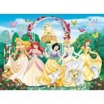 Puzzle 100 pièces - Les princesses Disney étincelantes