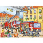 Puzzle 100 pièces XXL - Au feu les pompiers !