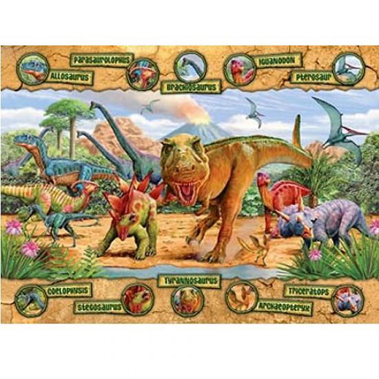 Puzzle 100 pièces XXL - L'ère des dinosaures - Ravensburger-10609