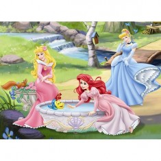 Puzzle 100 pièces XXL - Princesses Disney : Au bord de la rivière