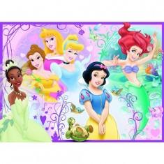 Puzzle 100 pièces XXL - Princesses Disney : Jolies princesses