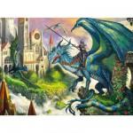 Puzzle 100 pièces XXL : Combat de dragons