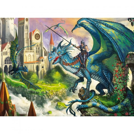 Puzzle 100 pièces XXL : Combat de dragons - Ravensburger-10876
