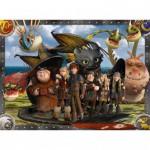 Puzzle 100 pièces XXL : Dragons : Krokmou et ses amis