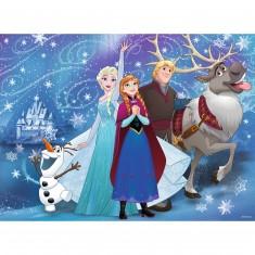 Puzzle 100 pièces XXL : La Reine des Neiges (Frozen) : Neige étincelante