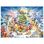 Puzzle 100 pièces XXL : Le Noël des personnages Disney