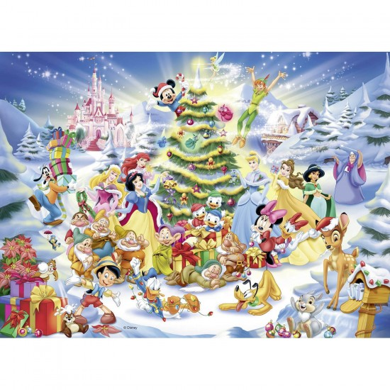 Puzzle 100 pièces XXL : Le Noël Disney - Ravensburger-10545