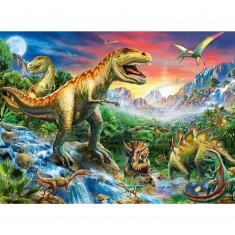 Puzzle 100 pièces XXL : Les dinosaures