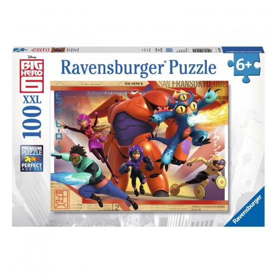 Puzzle 100 pièces XXL : Les Nouveaux Héros Big Hero 6 - Ravensburger-10562