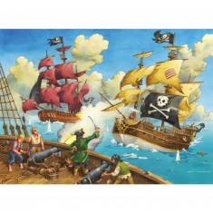 Puzzle 100 pièces XXL : Les pirates attaquent