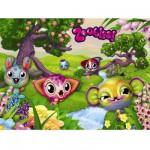 Puzzle 100 pièces XXL : Mes amis les Zoobles