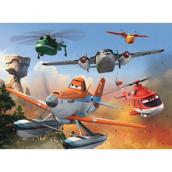 Puzzle 100 pièces XXL : Planes : Lutte contre l'incendie - Ravensburger-10537