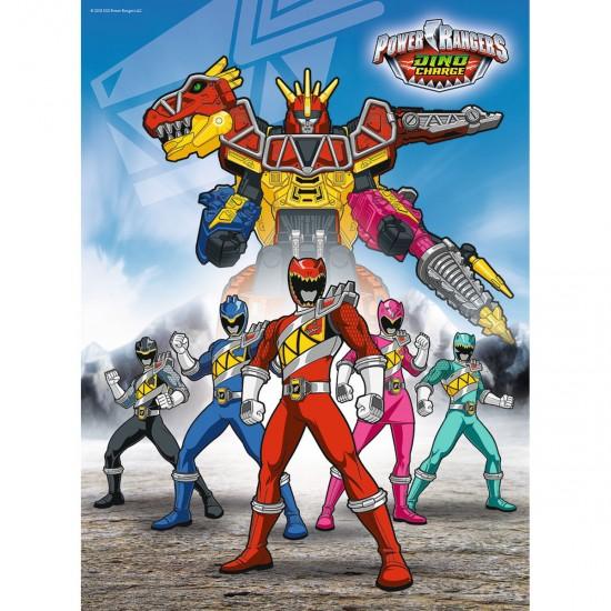 Puzzle 100 pièces XXL : Power Rangers Dino Charge - Ravensburger-10789