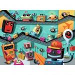 Puzzle 100 pièces XXL : Robots