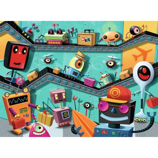 Puzzle 100 pièces XXL : Robots - Ravensburger-10686