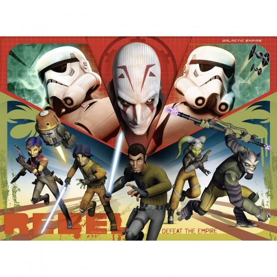 Puzzle 100 pièces XXL : Star Wars Rebels : Héros de l'Empire - Ravensburger-10563