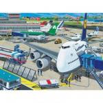 Puzzle 100 pièces XXL - Aérodrome