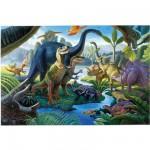 Puzzle 100 pièces XXL - Au pays des géants : Les dinosaures