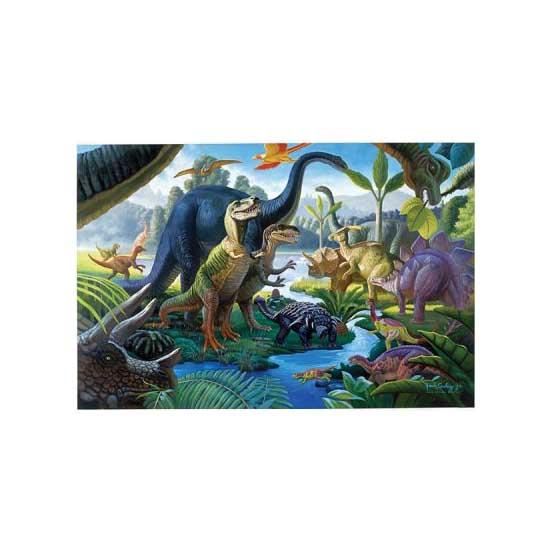 Puzzle 100 pièces XXL - Au pays des géants : Les dinosaures - Ravensburger-10740