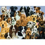 Puzzle 100 pièces XXL - Pêle-mêle de chiens