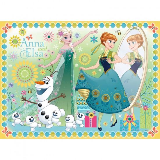 Puzzle 100 XXL : La Reine des Neiges : Frozen Fever - Ravensburger-10927