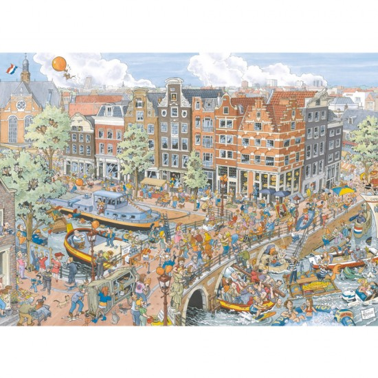 Puzzle 1000 pièces : Amsterdam, Fleroux - Ravensburger-19192