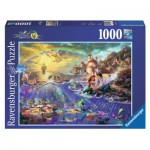 Puzzle 1000 pièces : Arielle, la petite sirène