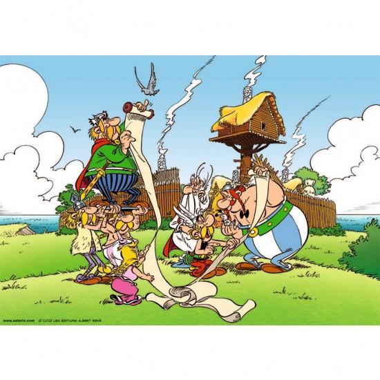 Puzzle 1000 pièces : Astérix et Obélix : Le Papyrus de César - Ravensburger-19576