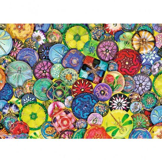 Puzzle 1000 pièces : Boutons colorés - Ravensburger-19405