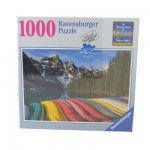 Puzzle 1000 pièces : Canoës de montagne