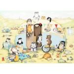 Puzzle 1000 pièces : Caravane de chats