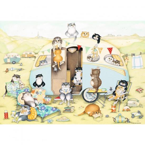 Puzzle 1000 pièces : Caravane de chats - Ravensburger-19588
