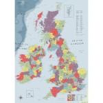 Puzzle 1000 pièces : Carte du Royaume-Uni et de l'Irlande