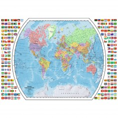 Puzzle 1000 pièces : Carte politique du monde