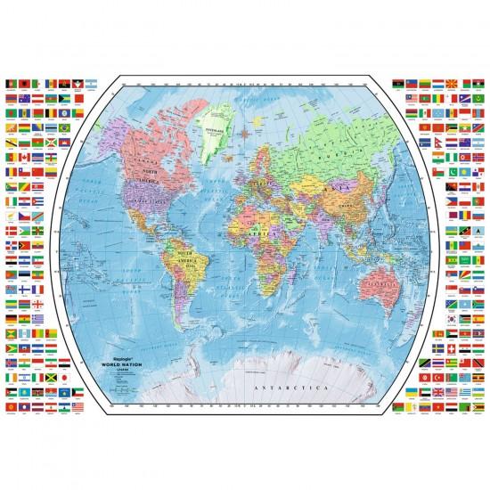 Puzzle 1000 pièces : Carte politique du monde - Ravensburger-19633