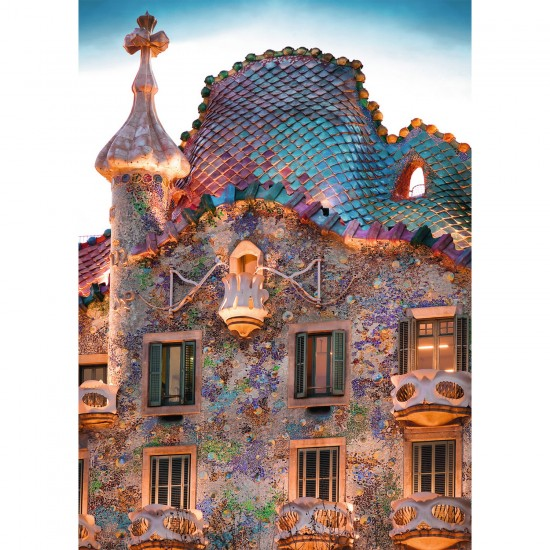 Puzzle 1000 pièces : Casa Batlló, Barcelone - Ravensburger-19631