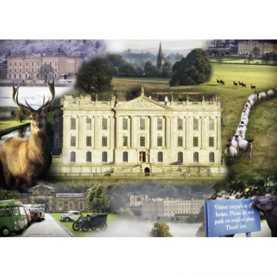 Puzzle 1000 pièces : Chatsworth House - Ravensburger-19572
