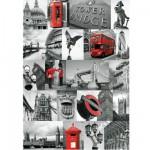 Puzzle 1000 pièces : Collage Londres