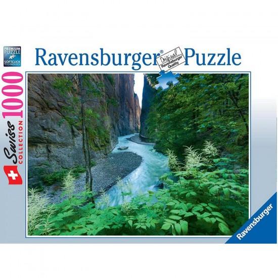 Puzzle 1000 pièces : Collection suisses : Gorges de l'Aar - Ravensburger-19354