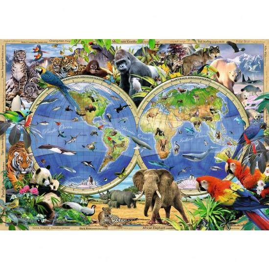 Puzzle 1000 pièces : Faune sauvage du monde - Ravensburger-19385